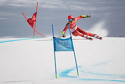 February 18, 2018 - Pyeongchang, SOUTH KOREA - 180218 Leif Kristian Nestvold-Haugen of Norway in Alpine Skiing Men's Giant Slalom during day nine of the 2018 Winter Olympics on February 18, 2018 in Pyeongchang..Photo: Joel Marklund / BILDBYRÃ…N / kod JM / 87633 (Credit Image: © Joel Marklund/Bildbyran via ZUMA Press)