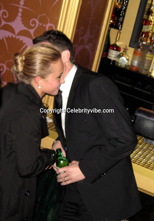 **EXCLUSIVE**.Hayden Panettiere and Casey Affleck..Barack Obama Inauguration Closing Party.Josephine's Lounge.Washington, DC, USA.Tuesday, January 20, 2009..Photo By Celebrityvibe.com.To license this image please call (212) 410 5354; or Email: celebrityvibe@gmail.com ;.website: www.celebrityvibe.com.