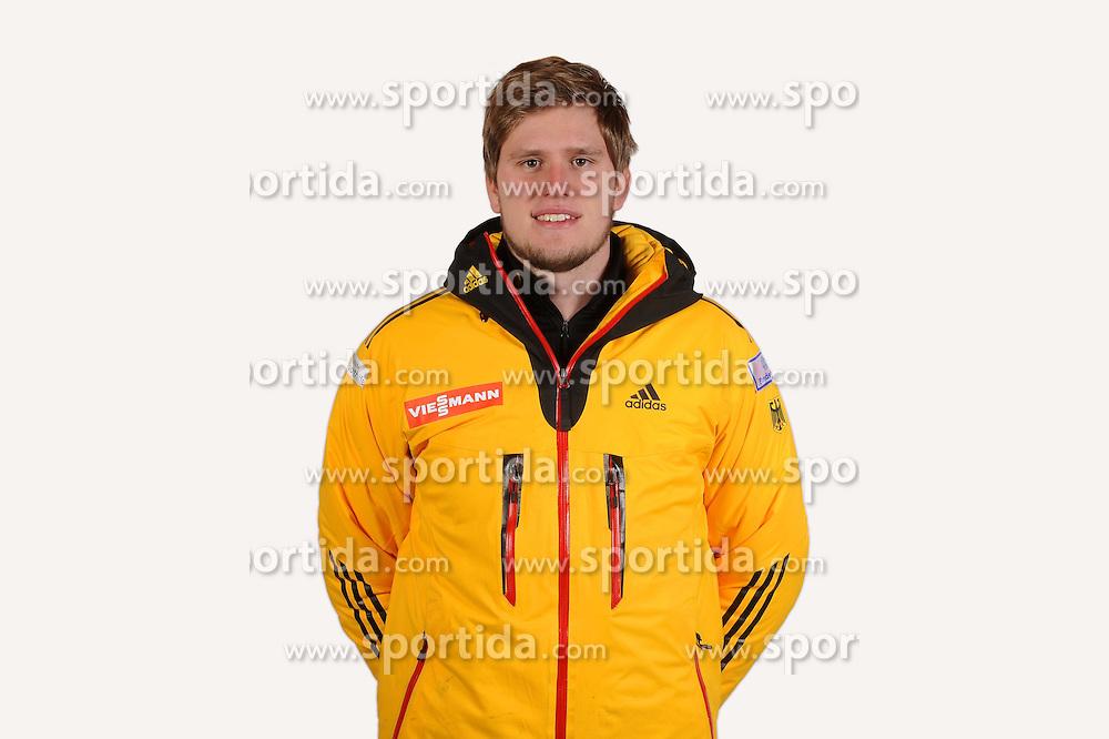 03.01.2014, Kunsteisbahn, Koenigssee, GER, BSD, Rennrodler Team Deutschland, Portrait, im Bild Julius Loeffler (SSV Altenberg) // during Luge athletes of team Germany, Portrait Shooting at the Kunsteisbahn in Koenigssee, Germany on 2014/01/04. EXPA Pictures © 2014, PhotoCredit: EXPA/ Eibner-Pressefoto/ Stuetzle<br /> <br /> *****ATTENTION - OUT of GER*****