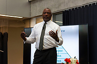 """The South East Chicago Commission held it's 2019 regional economic development symposium titled, """"Fueling Our Economic Evolution"""" Saturday afternoon, October 12th, 2019 at the University of Chicago's Harris School of Public Policy.<br /> 5588, 5592, 5599 – Dean of the College of Business and Chicago State University, Derrick Collins spoke about the ways that small, startup businesses can get financial support.<br /> <br /> Please 'Like' """"Spencer Bibbs Photography"""" on Facebook.<br /> <br /> Please leave a review for Spencer Bibbs Photography on Yelp.<br /> <br /> Please check me out on Twitter under Spencer Bibbs Photography.<br /> <br /> All rights to this photo are owned by Spencer Bibbs of Spencer Bibbs Photography and may only be used in any way shape or form, whole or in part with written permission by the owner of the photo, Spencer Bibbs.<br /> <br /> For all of your photography needs, please contact Spencer Bibbs at 773-895-4744. I can also be reached in the following ways:<br /> <br /> Website – www.spbdigitalconcepts.photoshelter.com<br /> <br /> Text - Text """"Spencer Bibbs"""" to 72727<br /> <br /> Email – spencerbibbsphotography@yahoo.com<br /> <br /> #SpencerBibbsPhotography <br /> #HydePark <br /> #Community <br /> #Neighborhood<br /> #CanonUSA"""
