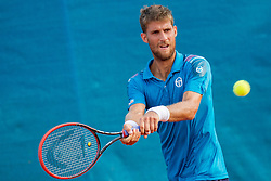 Martin Klizan (SVK) during a tennis match against the Andreas Haider-Maurer (AUT) in second round of singles at 26. Konzum Croatia Open Umag 2015, on July 23, 2015, in Umag, Croatia. Photo by Urban Urbanc / Sportida