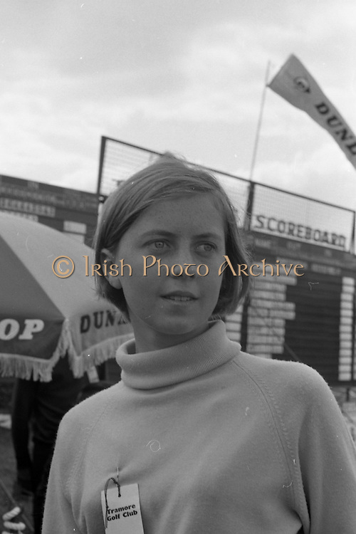 Miss Marie Bird who acted as one of the stewards at the Irish Dunlop £1,000 Tournament at Tramore Golf Club, Co. Waterford on the 19th August 1967.