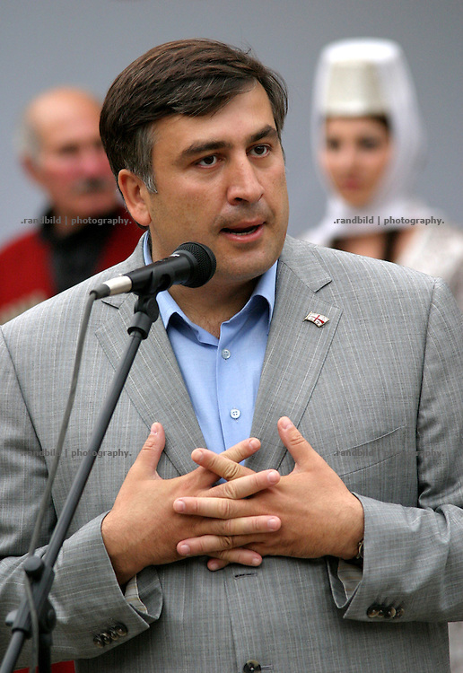Mikhail Saakashvili, President of the caucasian republic Georgia.