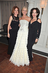 Left to right, the HON.DEIRDRE SANDBERG, CHARLOTTE STOCKTING and the HON.MARION LAWRENCE at the Matterhorn Challenge Ball in aid of Combat Stress as part of their 90th anniversary celebrations held at The Berkeley Hotel, London on 11th June 2009.