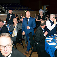 St Johnstone FC Hall of Fame Dinner, Perth Concert Hall….23.03.19<br />Saints legend Henry Hall leads Sandra McCarry, widow of inductee Bill 'Buck' McCarry into the hall<br />Copyright Perthshire Picture Agency<br />Tel: 01738 623350  Mobile: 07990 594431