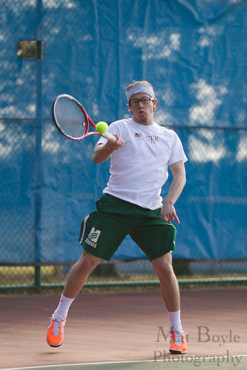 Mercer County College Men's Tennis vs. Gloucester County College at Gloucester County College in Sewell, NJ on Tuesday March 19, 2013. (photo / Mat Boyle)