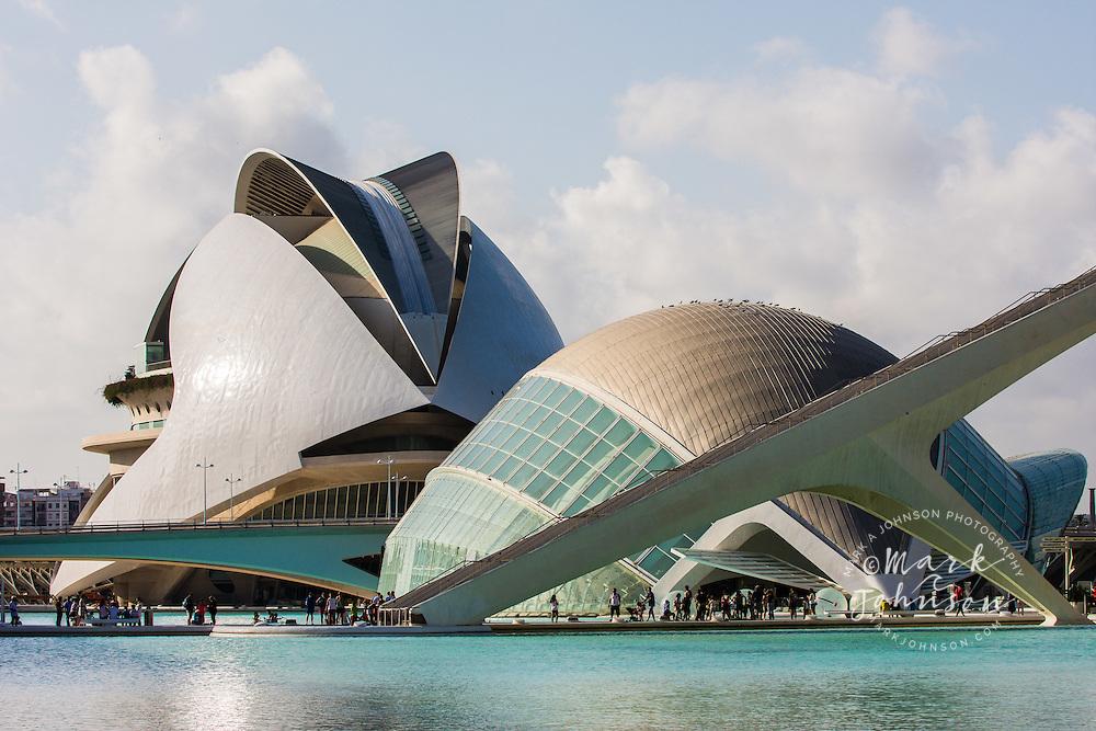 Hemisferic (fg), and Palau de las Arts (bg), Ciudad de Las Artes y Las Ciences, Valencia, Spain, Europe