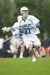 05 April 2008: North Carolina Tar Heels midfielder Chris Hunt (37) during a 11-12 OT loss to the Virginia Cavaliers on Fetzer Field in Chapel Hill, NC.