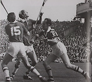 Cork's Eddie O'Brien and Ray Cummins await the dropping ball with Kilkenny's Ted Carroll and Pa Dillon in the 1969 All-Ireland final.