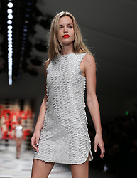 Georgia May Jagger on the catwalk during the Fashion for Relief a charity fashion show hosted by Naomi Campbell for the Ebola crisis in Africa at Somerset House, London. PRESS ASSOCIATION Photo. Picture date: Thursday February 19, 2015. Photo credit should read: Yui Mok/PA Wire