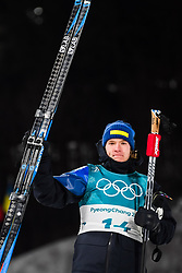 February 12, 2018 - Pyeongchang, SOUTH KOREA - 180212  Sebastian Samuelsson of Sweden, Silver, celebrates after the Men's Biathlon 12,5km Pursuit during day three of the 2018 Winter Olympics on February 12, 2018 in Pyeongchang..Photo: Jon Olav Nesvold / BILDBYRN / kod JE / 160157 (Credit Image: © Jon Olav Nesvold/Bildbyran via ZUMA Press)