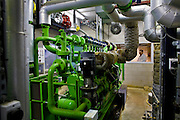 Computerized machinery at the Sterksel Practice Center. Biogas extracted from pig faeces (slurry) is converted to bio energy at the Sterksel Practice Center (Praktijkcentrum Sterksel) in Sterksel, The Netherlands on 20 October, 2008. Beside their pig dairy farm that runs completely on bio energy, Sterksel Practice Center delivers bio electricity with a capacity for approximately 700 households. (Photo by Michel de Groot)