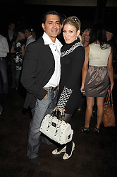 VINAY KAPOOR and HOFIT GOLAN at the opening of the Buddha Bar, Victoria Embankment, London on 8th September 2008.<br /> <br /> NON EXCLUSIVE - WORLD RIGHTS