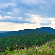 Shenandoah National Park extends along the Blue Ridge Mountains in the U.S. state of Virginia.