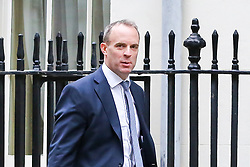 © Licensed to London News Pictures. 29/10/2019. London, UK. Foreign SecretaryDOMINIC RAAB arrives in Downing Street to attend the weekly cabinet meeting. Photo credit: Dinendra Haria/LNP