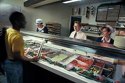 cafeteria food management manager supervisor college university school fast food student serve serving job occupation deli style