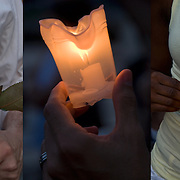 AIDS Candlelight Vigil, remembrance  and memorial of love ones who died of HIV/AIDS and a show of support for survivors and those now afflicted.  A show of  emotions of grief and sorrow. <br /> <br /> AIDS Candlelight Vigil - GOR-75142-10<br /> AIDS Candlelight Vigil - GOR-75211-10<br /> AIDS Candlelight Vigil - GOR-75130-10