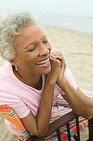 Woman Smiling at Beach