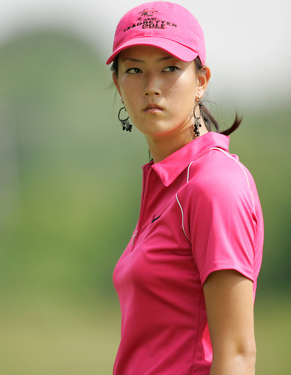 HAVRE DE GRACE , MARYLAND - JUNE 12, 2005<br /> Michelle WIE during the fourth round of the 2005  McDonald's LPGA Championship held at Bulle Rock golf course in Havre De Grace, Maryland. Wie shot a 8 under par to finish in second place.