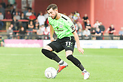 Connor Hughes of Curzon Ashton (11) attacks with the ball during the Vanarama National League North match between York City and Curzon Ashton at Bootham Crescent, York, England on 18 August 2018.