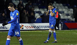 Ben White of Peterborough United cuts a dejected figure at full-time - Mandatory by-line: Joe Dent/JMP - 19/01/2019 - FOOTBALL - Kenilworth Road - Luton, England - Luton Town v Peterborough United - Sky Bet League One