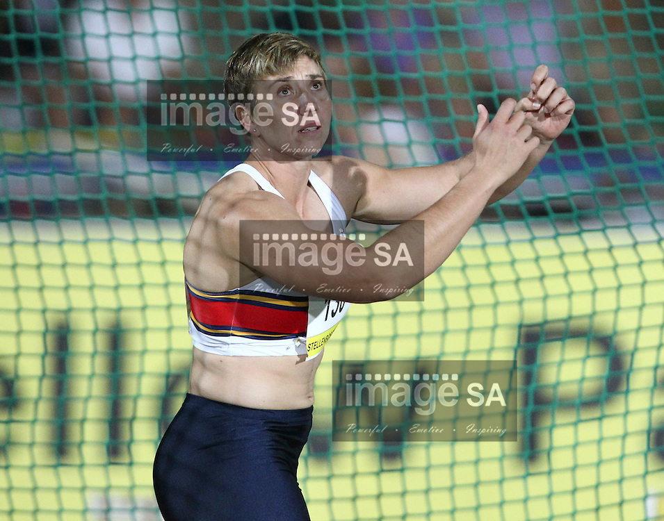 STELLENBOSCH, SOUTH AFRICA, Tuesday 20 March 2012, Elizna Naude in the women's discus during the Yellow Pages Series athletics meeting at the University of Stellenbosch Coetzenburg stadium..Photo by Roger Sedres/Image SA