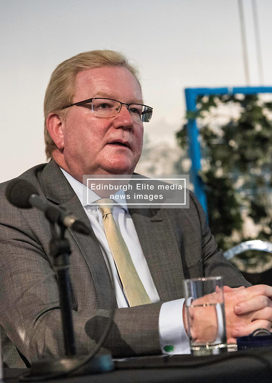 Former First Minister, Henry McLeish,  chairs a series of short talks and debates on the UK's vote to leave the European Union in an event organised by the Centre on Constitutional Change at Dynamic Earth in Edinburgh.<br /> <br /> Pictured: Jackson Carlaw MSP