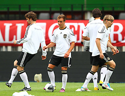 02.06.2011, Ernst Happel Stadion, Wien, AUT, UEFA EURO 2012, Qualifikation, Abschlusstraining Deutschland (GER), im Bild Arne Friedrich, (GER), Mario Götze, (GER), Sami Khedira, (GER) und Marcel Schmelzer, (GER) // during the final training from Germany for the UEFA Euro 2012 Qualifier Game, Austria vs Germany, at Ernst Happel Stadium, Vienna, 2010-06-02, EXPA Pictures © 2011, PhotoCredit: EXPA/ T. Haumer