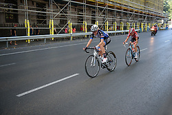 Simona Frapporti and Claudia Lichtenberg form a late break at Madrid Challenge by La Vuelta an 87km road race in Madrid, Spain on 11th September 2016.