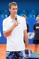 Frantisek Cermak of Czech Republic during flower ceremony after final of doubles at 25th Vegeta Croatia Open Umag, on July 27, 2014, in Stella Maris, Umag, Croatia. Photo by Urban Urbanc / Sportida