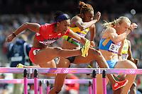 LONDON OLYMPIC GAMES 2012 - OLYMPIC STADIUM , LONDON (ENG) - 06/08/2012 - PHOTO : POOL / KMSP / DPPI<br /> ATHLETICS - WOMEN'S 100 M HURDLES - KELIE WELLS (USA)