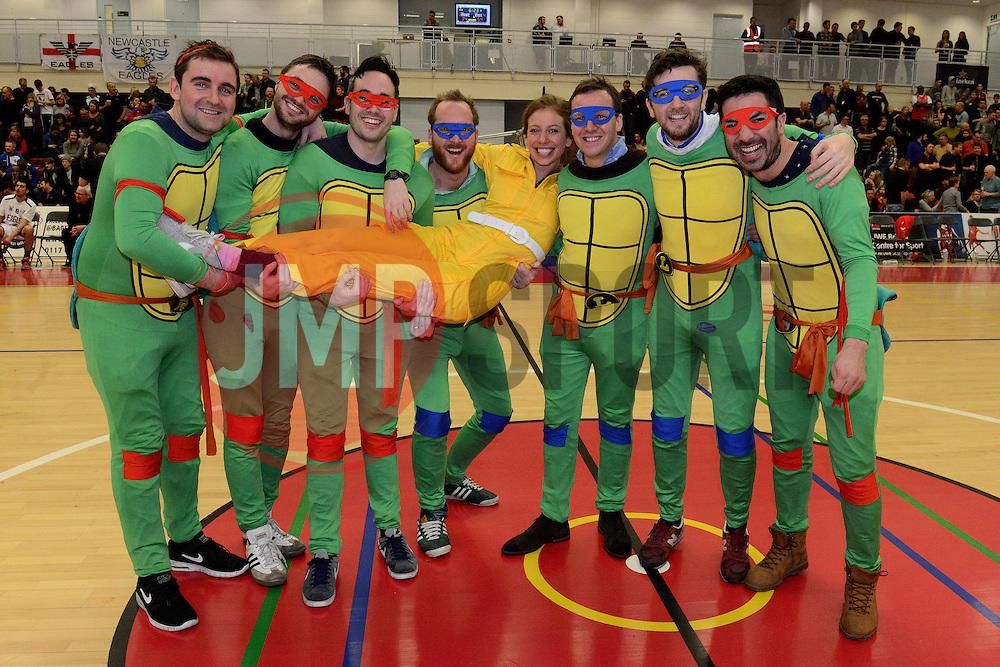 Hen Party - Mandatory byline: Dougie Allward/JMP - 06/02/2016 - FOOTBALL - SGS Wise Campus - Bristol, England - Bristol Flyers v Newcastle Eagles - British Basketball League