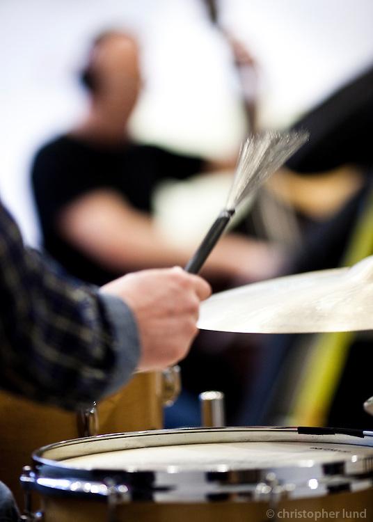 Frá upptökum jazztríó Árna Heiðars (vinnuheiti DIM 41).