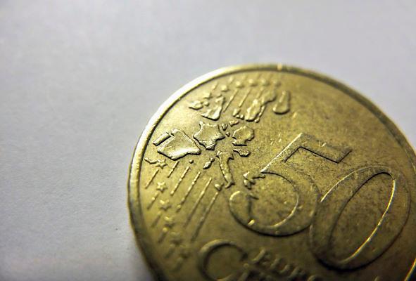 Nederland, Ubbergen, 8-1-2012Een munt van 50 eurocent met  de landen van de monetaire unie erop afgebeeld.Foto: Flip Franssen/Hollandse Hoogte