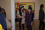 EMMA SINCLAIR; MELANIE CHITTY; David Salle private view at the Maureen Paley Gallery. 21 Herlad St. London. E2. <br /> <br />  , -DO NOT ARCHIVE-&copy; Copyright Photograph by Dafydd Jones. 248 Clapham Rd. London SW9 0PZ. Tel 0207 820 0771. www.dafjones.com.
