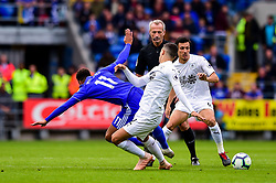 Josh Murphy of Cardiff City is tackled by Jack Cork of Burnley - Mandatory by-line: Ryan Hiscott/JMP - 30/09/2018 -  FOOTBALL - Cardiff City Stadium - Cardiff, Wales -  Cardiff City v Burnley - Premier League