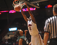 "Ole MIss forward Reginald Buckner (2) dunks over Mississippi Valley State's Jason Holmes (42) at C.M. ""Tad"" Smith Coliseum in Oxford, Miss. on Monday, December 13, 2010."