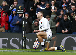February 10, 2019 - London, England, United Kingdom - Jonny May of England   celebrate his Try..during the Guiness 6 Nations Rugby match between England and France at Twickenham  Stadium on February 10th,  in Twickenham, London, England. (Credit Image: © Action Foto Sport/NurPhoto via ZUMA Press)