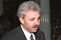 Dr Yousef Allan, delegate general of Palestine in Ireland. He was born in Halhoul, near Hebron, the West Bank trouble spot. London based. Diplomat. Died January 17, 2001.  200004035, Taken at Sinn Fein Ard Fheis (Party Conference) in Dublin April 2000<br />