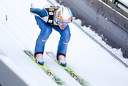 Michael Hayboeck of Austria competes during Trial round of the FIS Ski Jumping World Cup event of the 58th Four Hills ski jumping tournament, on January 5, 2010 in Bischofshofen, Austria. (Photo by Vid Ponikvar / Sportida)