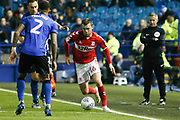 Middlesbrough midfielder Jonathan Howson (16)  during the EFL Sky Bet Championship match between Sheffield Wednesday and Middlesbrough at Hillsborough, Sheffield, England on 19 October 2018.