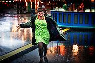 ROTTERDAM - Parade 2012 in het centrum van Rotterdam in de stromende regen tijdens de eerste dag van de zomer. COPYRIGHT ROBIN UTRECHT FOTOGRAFE