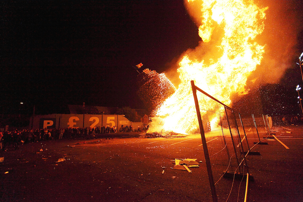 Bonfire Night on Sandy Row, Belfast 11/7/2012