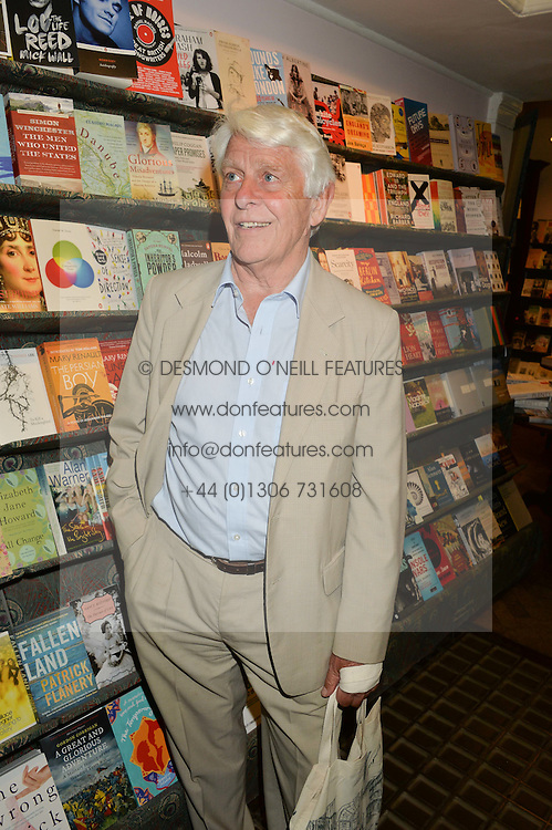 ROBIN HANBURY-TENNISON at a party to celebrate the publication of Stanley I Resume by Stanley Johnson at the Daunt Bookshop, Marylebone High Street, London on 23rd September 2014.