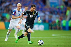 MOSCOW, RUSSIA - Saturday, June 16, 2018: Argentina's Lionel Messi during the FIFA World Cup Russia 2018 Group D match between Argentina and Iceland at the Spartak Stadium. (Pic by David Rawcliffe/Propaganda)