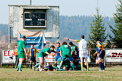 during rugby match between Slovenia and Andorra for European Nations Cup 2010-12, Group 2B, on November 12, 2011 at Igrisce Oval, Stanezice, Ljubljana, Slovenia. (Photo By Matic Klansek Velej / Sportida)