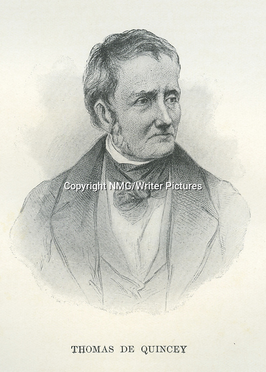 Thomas de Quincey. English essayist<br /> <br /> Copyright NMG/Writer Pictures<br /> WORLD RIGHTS