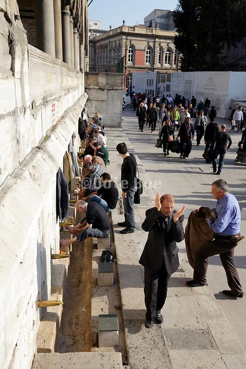 wash area outside the Yeni Camii Istanbul