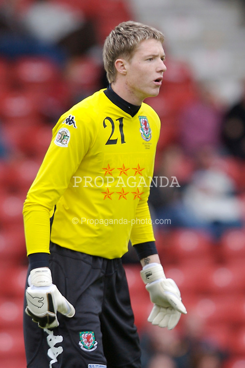 Wrexham, Wales - Saturday, May 26, 2007: Wales' goalkeeper Wayne Hennessey in action against New Zealand during the International Friendly match at the Racecourse Ground. (Pic by David Rawcliffe/Propaganda)