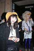 KATHRYN FERGUSON AND JODIE HARSH, A Party To Celebrate the Launch of 'A Hedonist's Guide To Life' Maya. Dean St. London. 23 October 2007. -DO NOT ARCHIVE-© Copyright Photograph by Dafydd Jones. 248 Clapham Rd. London SW9 0PZ. Tel 0207 820 0771. www.dafjones.com.